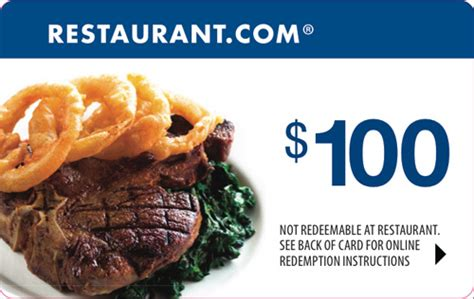 E Gift Cards To Restaurants - 100 restaurant com gift certificate coupon e gift 18 000 restaurants food ebay