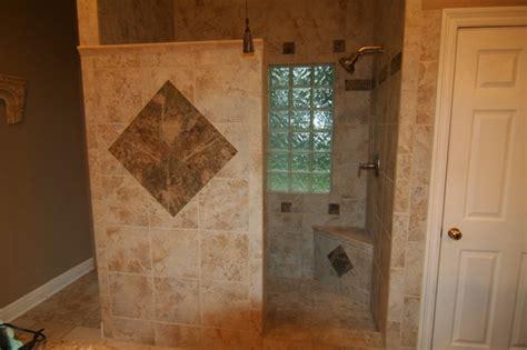 garden tub  walk  shower  traditional bathroom