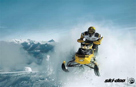 Wallpaper Snow Yellow Sport Sport Snow Snowmobile