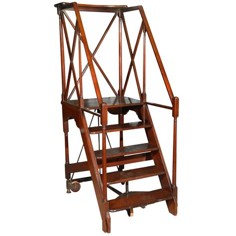 library ladders large library ladder at 1stdibs