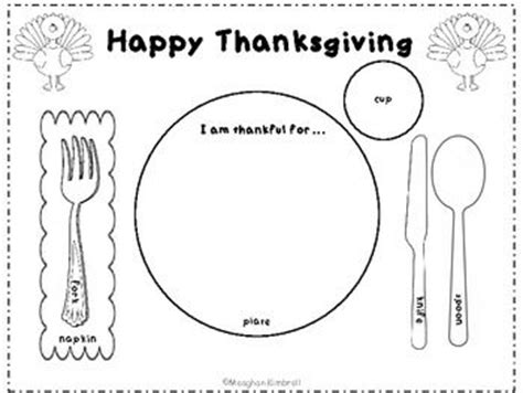thanksgiving place setting placemat november ideas