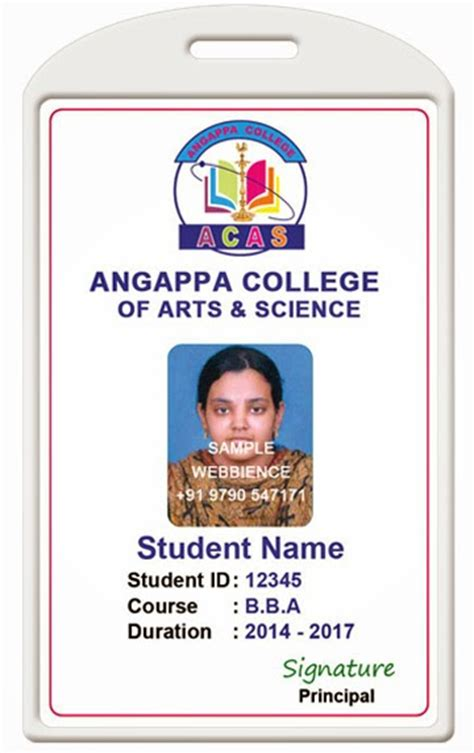 student card template id card coimbatore ph 97905 47171 college id card