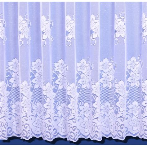 net curtains online uk heidi floral heavyweight net curtain in white sold by