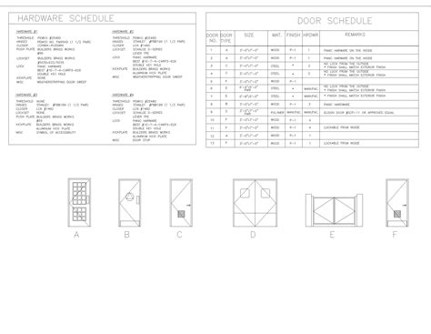 Hardware Schedule Door Hardware Schedule Template Excel
