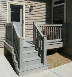 outdoor banisters and railings small home exterior design prefabricated porch steps