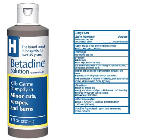 Iodine Detox Symptoms Acne by Betadine Solution Just In
