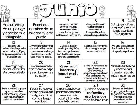 Calendario De Actividades Calendario De Actividades Mes De Junio Educaci 243 N