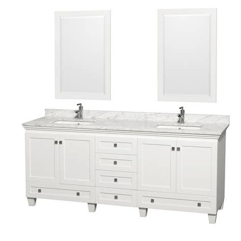 80 double sink bathroom vanity wyndham collection wcv800080dwhcmunsm24 acclaim 80 inch