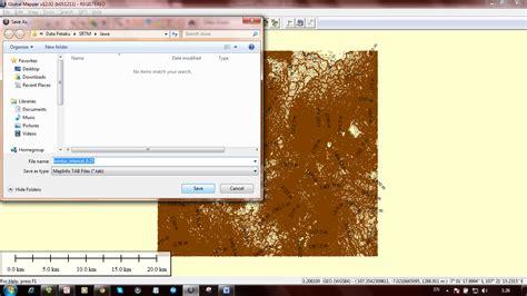 membuat layout peta dengan global mapper tutorial cara membuat kontur dengan global mapper