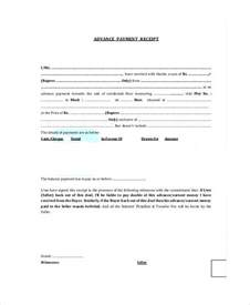 sample advance payment receipt 8 examples in word pdf