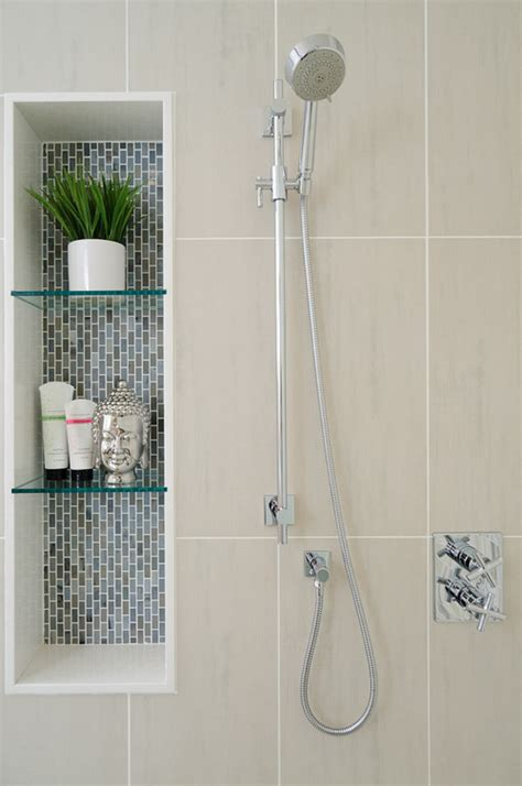How Are The Glass Shelves Supported In This Niche Bathroom Niche Shelves