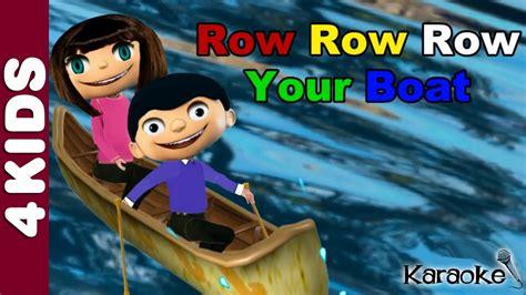 row your boat instrumental row row row your boat nursery rhymes karaoke youtube