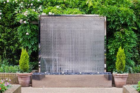 Outdoor Garden Wall Fountains Design Ideas Models Home Garden Wall Water Features