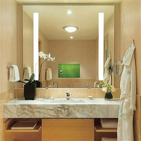hotel bathroom mirrors hotel bathroom lighted frameless mirror for decoration