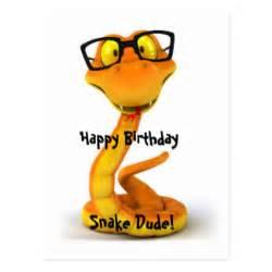 happy birthday snake postcards zazzle co nz