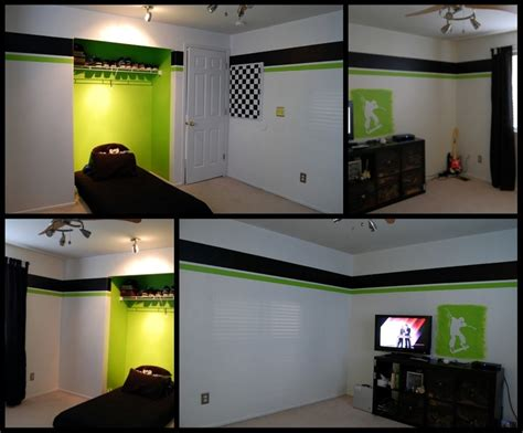 gaming bedroom crazy for chipboard xbox green elijahs room pinterest