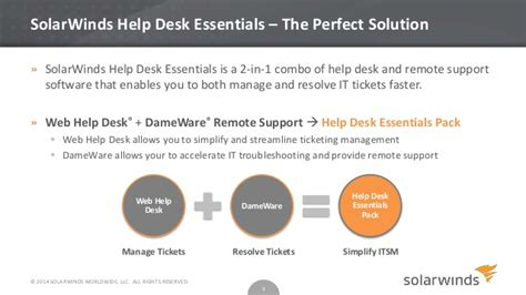 solarwinds help desk essentials overview
