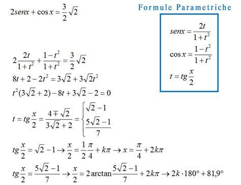 equazioni parametriche casi equazioni goniometriche lo schema per risolverle