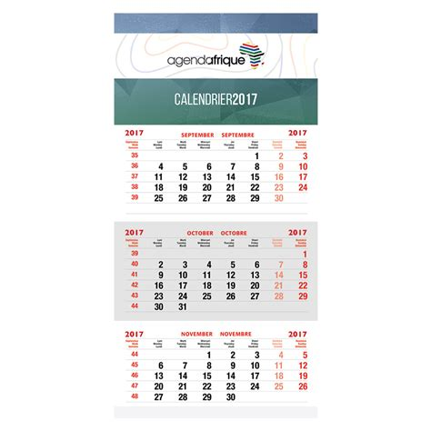 Calendrier Mural Calendrier Mural Tryptique Agenda Afrique Fabricant