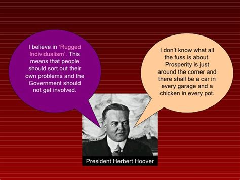 herbert hoover rugged individualism fdr and the new deal