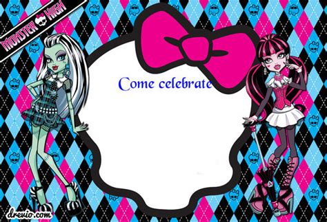 doc monster high birthday card personalised monster