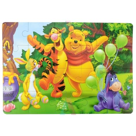 Sprei Winnie The Pooh No 1 Fata puzzle a4 din burete cu winnie the pooh si tigrila