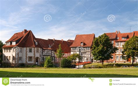 Gable Roof House Plans half timbered houses in hildesheim germany stock images