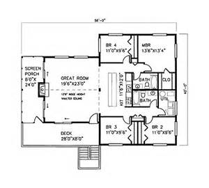1600 square foot floor plans 1600 square feet 4 bedrooms 2 batrooms on 1 levels house plan 15238 all house plans