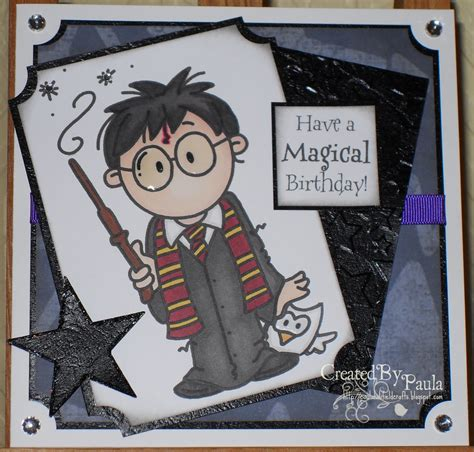 Harry Potter Themed Birthday Cards Paulaholifieldcrafts Harry Potter Birthday Card