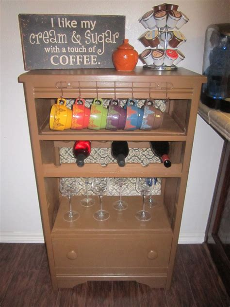 coffee wine station looks great repurpose anything