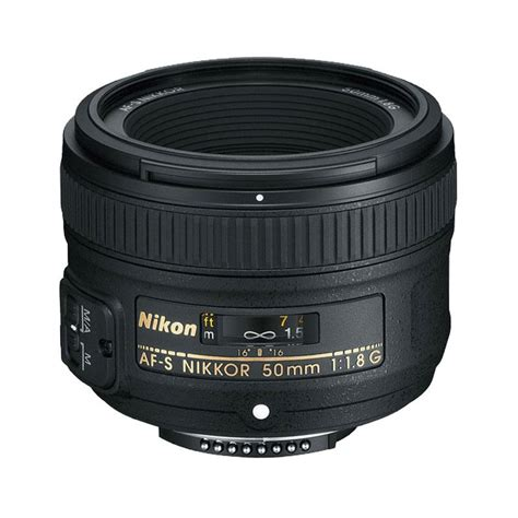 Lensa Nikon 50mm F 1 8 D jual nikon af s nikkor 50mm f 1 8g lensa kamera harga kualitas terjamin blibli