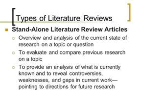 Types Of Literary Essays by Writing A Literature Review Ppt