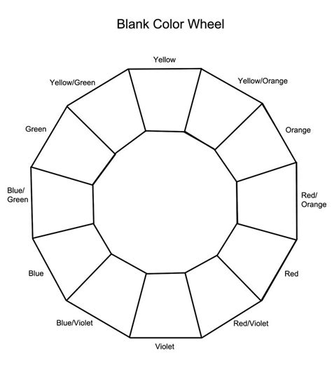 coloring pages bliss color chart blank color wheel cosmetology teaching ideas pinterest