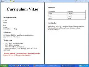 curriculum vitae for students cv voorbeeld student afbeeldingen cv voorbeeld student