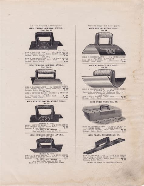 Trowel And Masonry Tool Collector Resource History Of