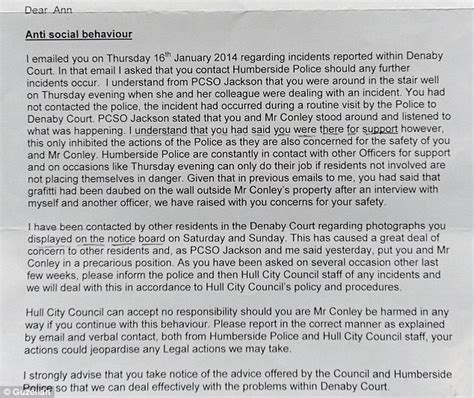 up letter to addiction tenant forced to take warning signs about