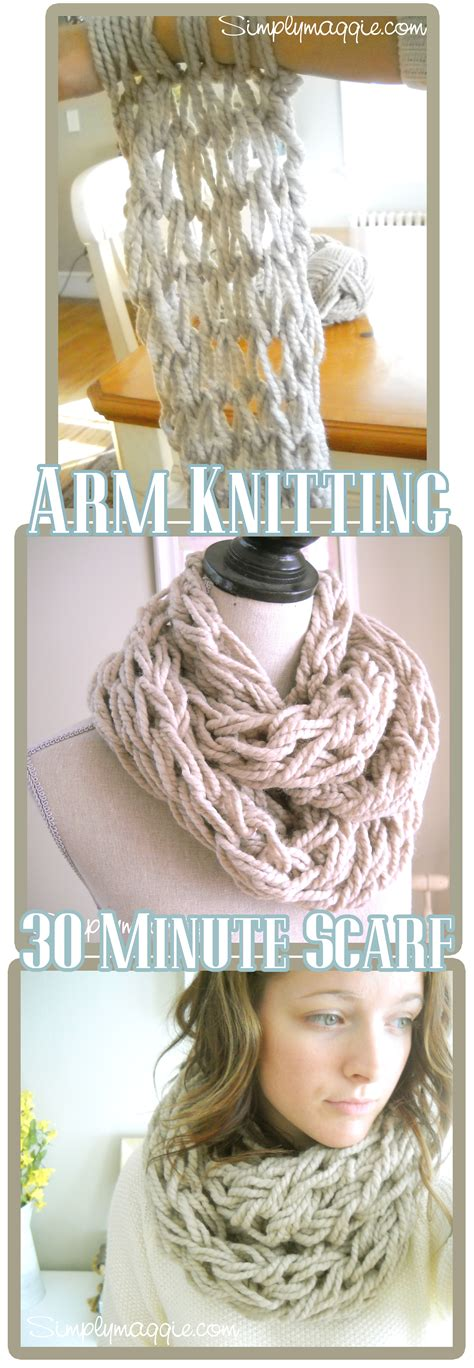 arm knit scarves arm knitting tutorial how to simplymaggie