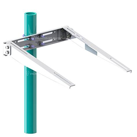 Solar Pole L by Solar Panel Side Of Pole Universal Arm Pole Wall