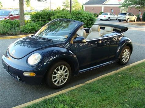 navy blue volkswagen beetle purchase used 2004 volkswagen vw beetle gl convertible 2