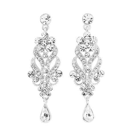 Silver Chandelier Earrings Uk Silver Plated Chandelier Earrings Simply Plush