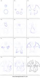 how to make doodle step by step how to draw charizard from printable step by step