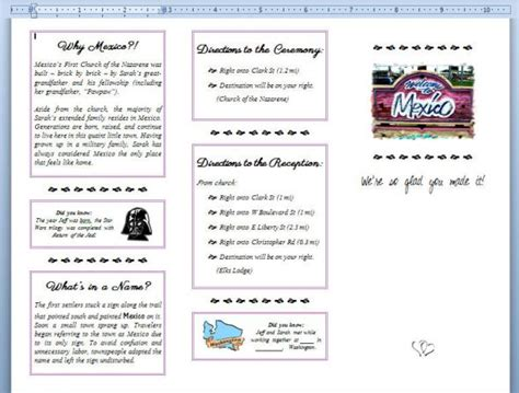 Welcome Brochures Weddingbee Photo Gallery Diy Brochure Template