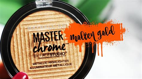 Maybelline Master Chrome new maybelline master chrome highlighter swatch