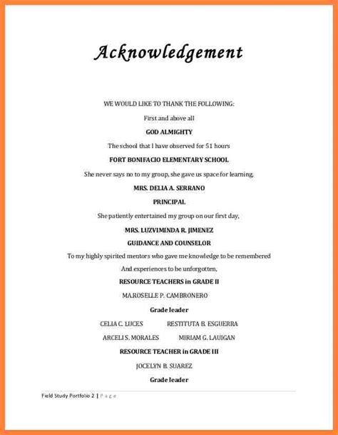 Acknowledgement Letter Mentor Acknowledgement Report Sle Acknowledgementwe Are Really Grateful Because We Managed To