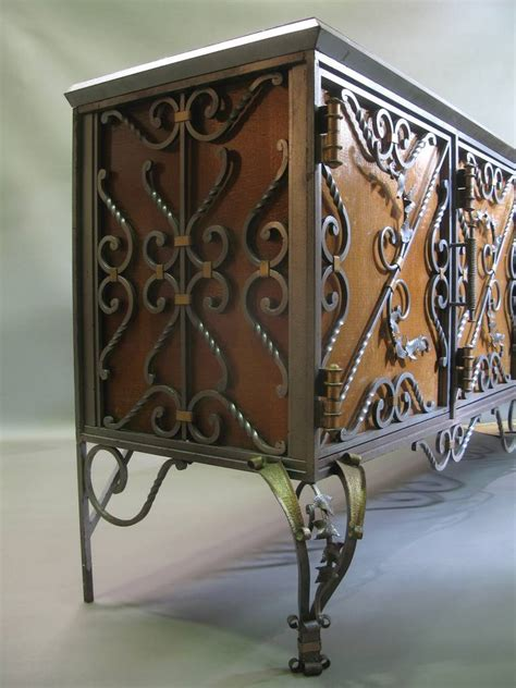 Wrought Iron Credenza exceptional wrought iron motif credenza 1940s at 1stdibs