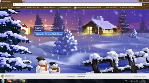 themes beta chrome paysage d hiver chrome theme themebeta