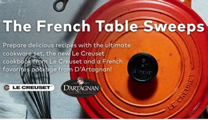 Le Creuset Sweepstakes - you are officially entered to win sun sweeps