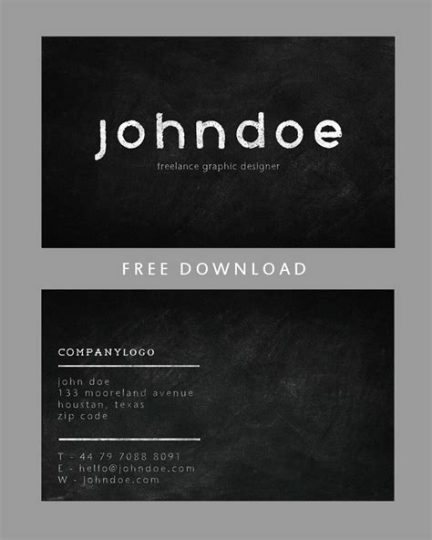 chalkboard business card free template chalkboard business card template design by photoshophut