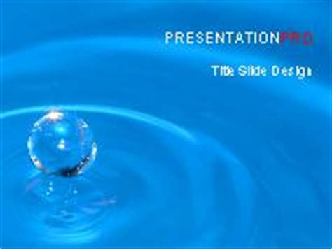 Water Drop 02 Powerpoint Template Background In Nature Powerpoint Ppt Slide Design Category Microsoft Office Powerpoint Templates Water
