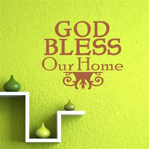 God Bless Our Home Wall Decor | god bless our home text wall stickers christian family design wall decals quotes bedroom